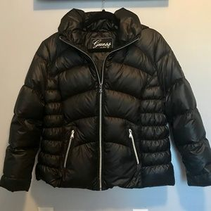 GUESS Down Puffer Coat with Hood